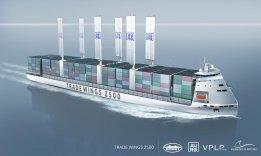 Hybrid LNG-Wind Container Ship Wins Bureau Veritas AiP