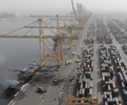 Fire Reported on Container Ship at Jebel Ali