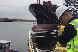 Hull Hole Causes Bunker Spill in New York