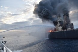 No Oil Spill Reported Yet From VLCC on Fire Off Sri Lanka
