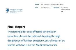 New EU Study Backs Creation of Mediterranean ECA
