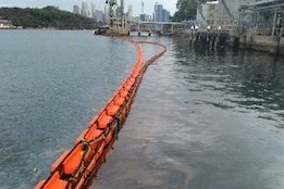 """Clean up of Bunker Spill from Sydney Harbour Terminal """"Advancing"""""""