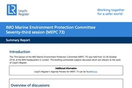 Everything You Need to Know About MEPC 73
