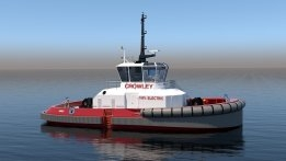 Crowley to Build First Fully Electric Tugboat in US