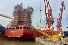 Containerships Launches First LNG-Powered Vessel