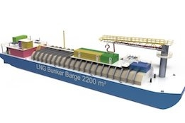 2200 cbm LNG Bunkering Barge Draws Closer to Completion with Cargo Handling System Delivery
