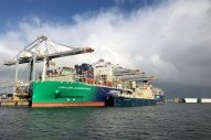 First Rotterdam Bunkering of Giant Gas-Powered CMA CGM Boxship Included Bio-LNG