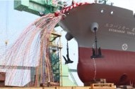 Combined LNG and Conventional Bunker Barge Launches in Japan