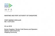 Singapore: MPA Issues Updated Bunkering Guidelines