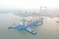 Singapore's First LNG Bunker Barge Launches in China