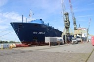 World's First Box Ship Converted to Use LNG Marine Fuel Launched and Bunkered