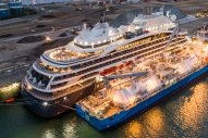 French Cruise Ship Bunkers LNG at Le Havre